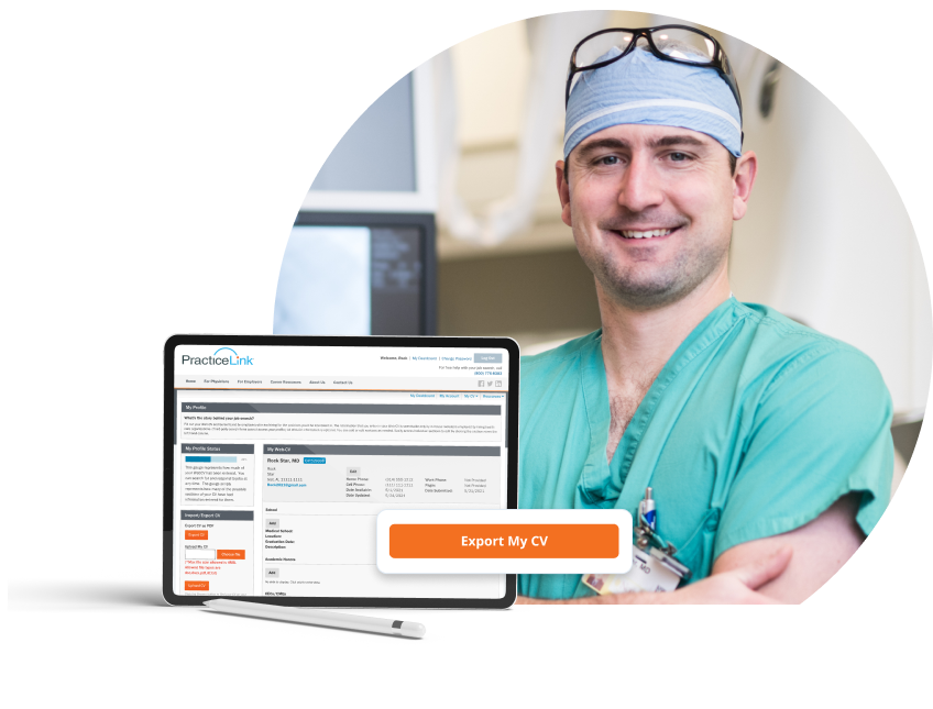 PracticeLink Physician and Candidate Job Board
